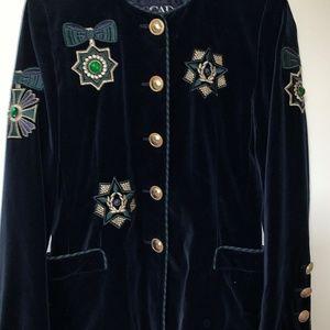 Escada ~ Jeweled Vintage Blazer!